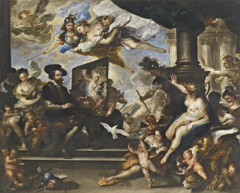 Rubens_dipinge_l'allegoria_della_pace_-_Luca_Giordano