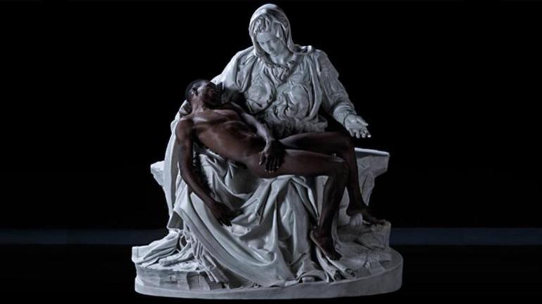Fabio Viale Il Cristo Nero, Pietà