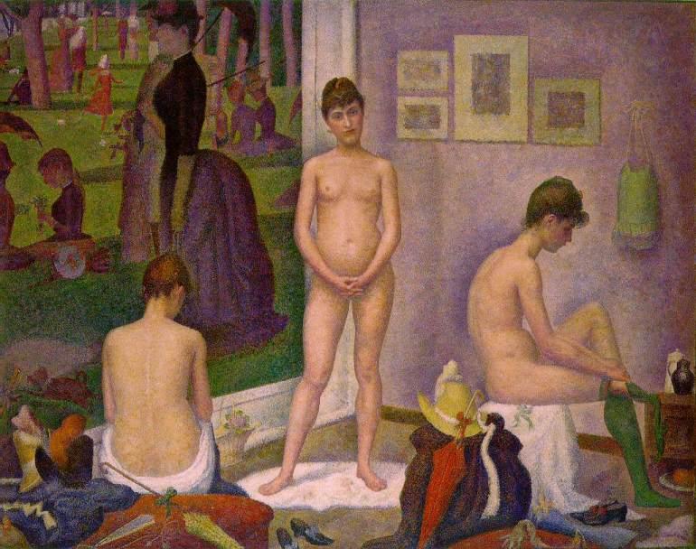 Georges_Seurat_-_Les_Poseuses 1888