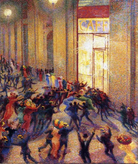 umberto boccioni rissa in galleria 1910