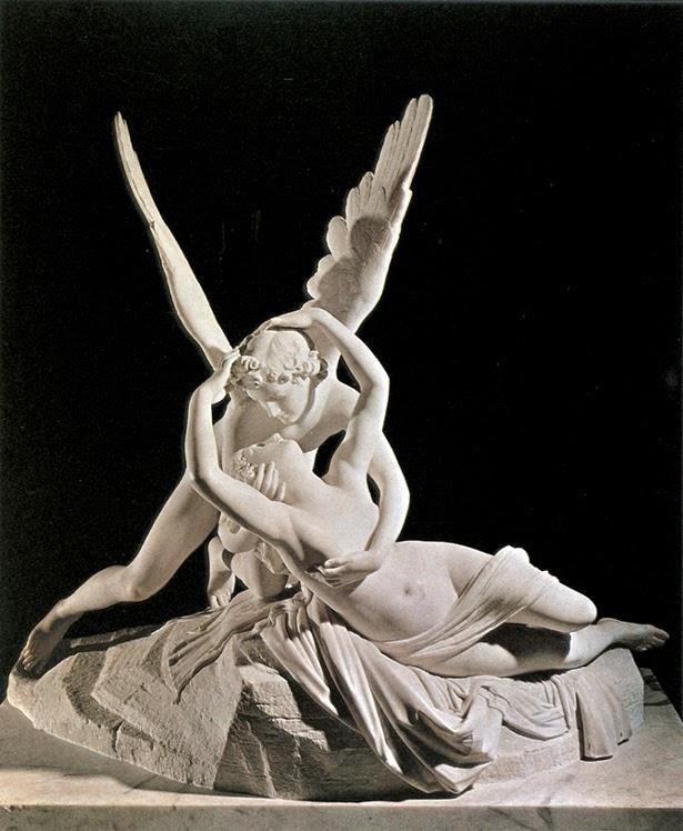 Amore e Psiche che si abbracciano, 1787-1793, gruppo scultoreo in marmo, museo del Louvre, Parigi