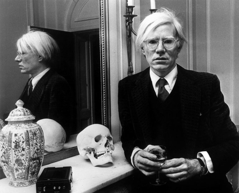 Andy Warhol in London in November 1975. Photo by AGIP-RDA-Getty Images