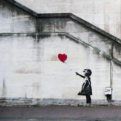 """""""La ragazza con il palloncino"""" Londra 2002"""