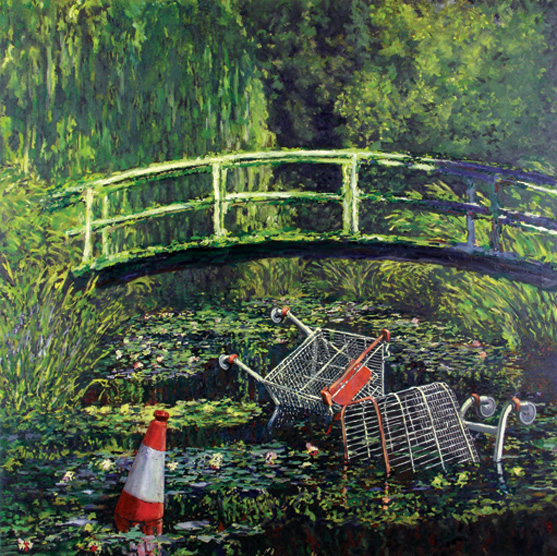 Banksy Show me the Monet