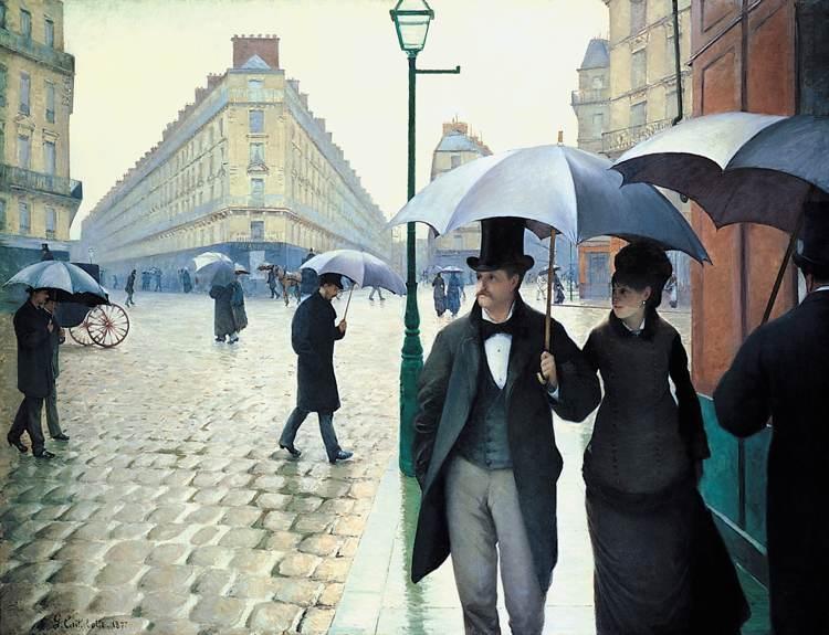 Gustave CaillebotteStrada di Parigi, giorno di pioggia 1877
