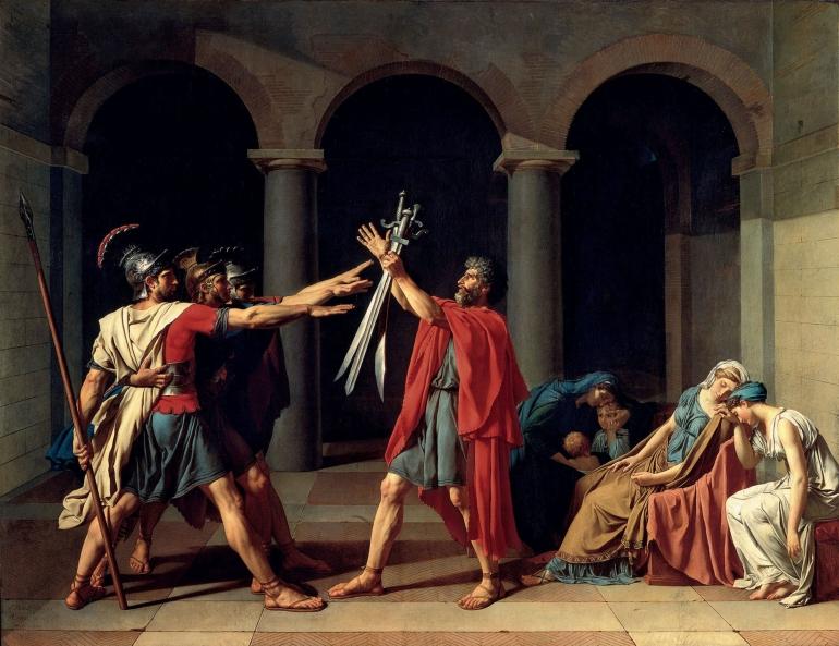 Jacques Louis David - Il giuramento degli Orazi - 1785