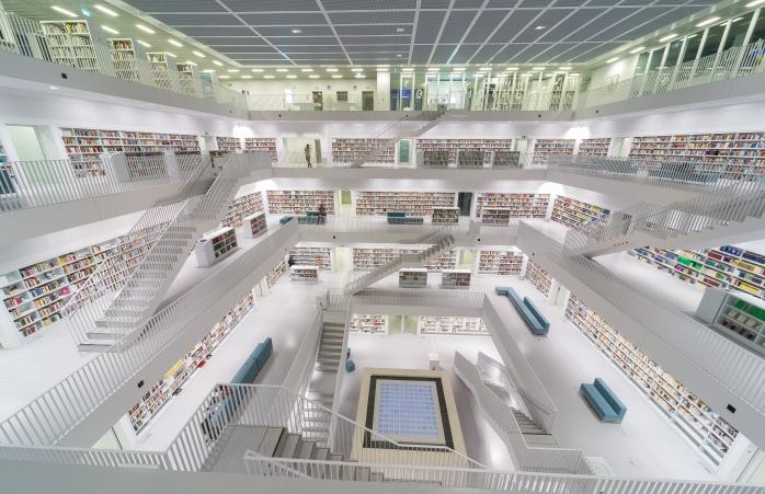 La Biblioteca Civica di Stoccarda – Stoccarda, Germania
