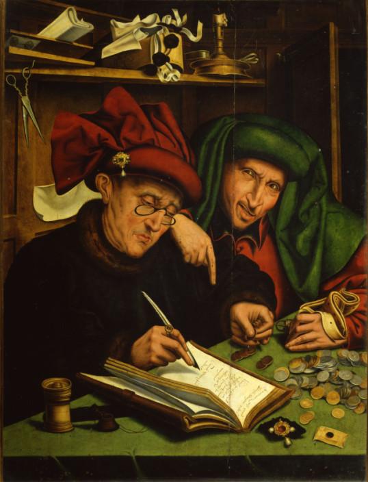 (Marinus van Reymersvaele, Gli usurai, 1540)