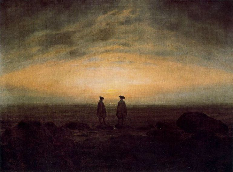 Caspar David Friedrich, Two Men by the Sea, 1818