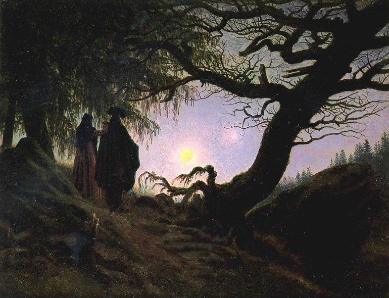 Caspar David Friedrich, Un uomo e una donna davanti alla luna 1819