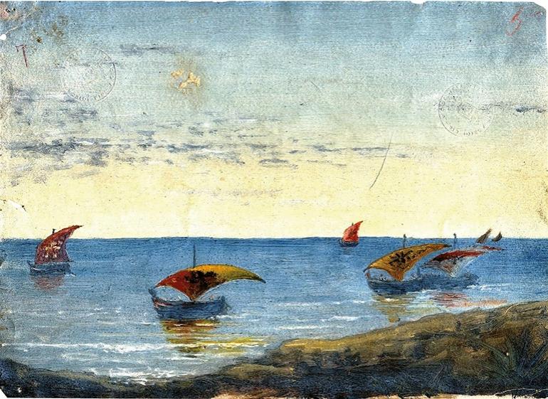 DAnnunzio-pesca 1883 - da stilearte.it dannunzio-pittore