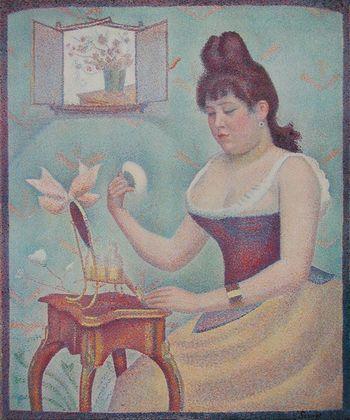 Georges Seurat, Giovane donna che s'incipria 1889 - da Wikipedia