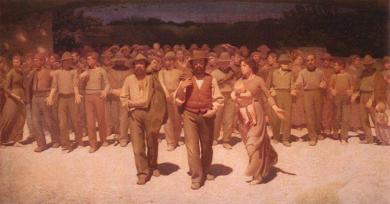 Giuseppe Pellizza da Volpedo Quarto Stato, 1901 da ArtSpecialDay