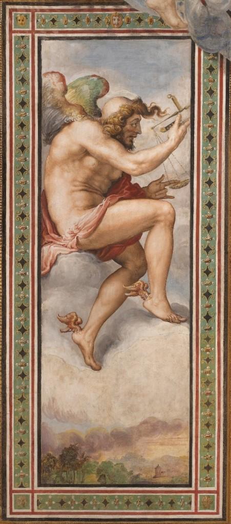 Il Tempo Opportuno, affresco di Francesco Salviati 1543-1545, Sala dell'Udienza, Palazzo Vecchio, Firenze