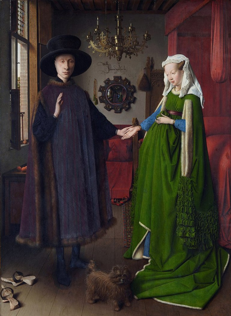 Jan Van Eyck, Arnolfini Portrait - Ritratto dei coniugi Arnolfini - 1434