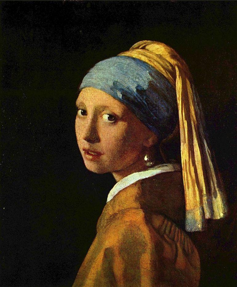 Jan Vermeer, La Ragazza con l'orecchino di perla opp La ragazza col turbante, 1665-1666 - da Wikipedia