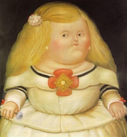 Menina After Velazquez - 1978 Fernando Botero - da artnet.com