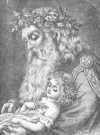 Padre Tempo con il Neonato di Capodanno da Frolic & Fun 1897 - da Wikipedia