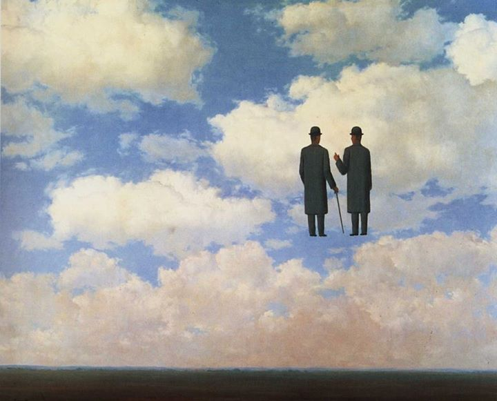 René Magritte - The Art of Conversation 1963 - da Pinterest