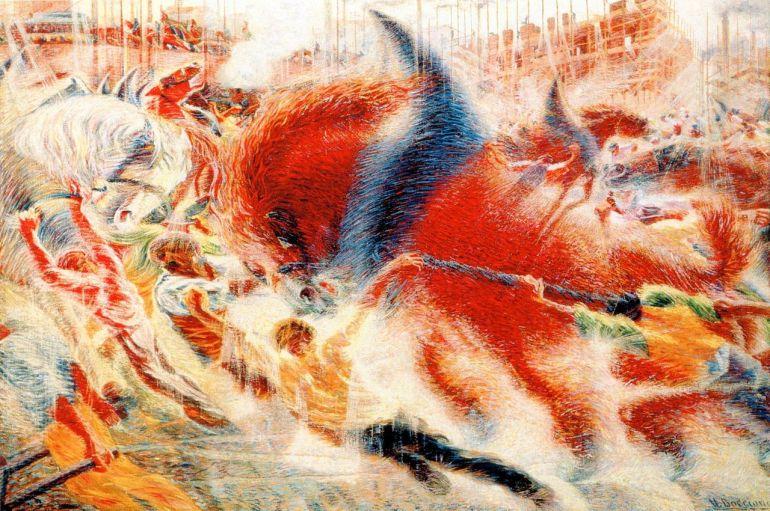 Umberto Boccioni La città che sale - 1910-1911 - da Wikipedia