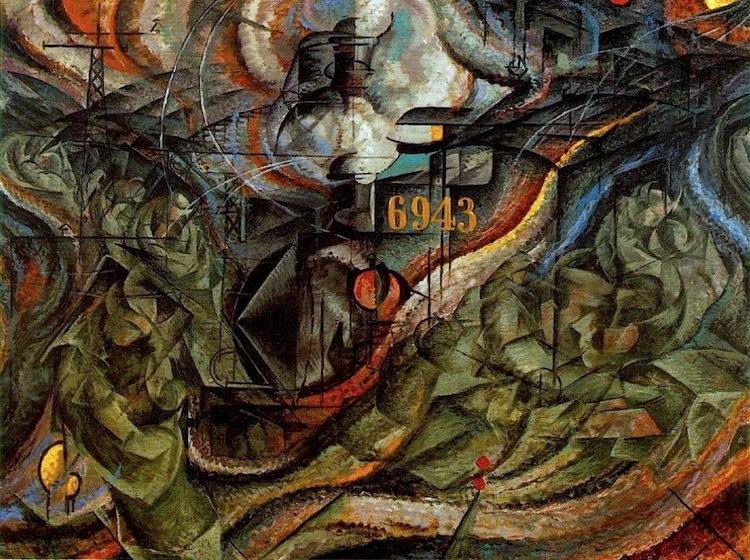 Umberto Boccioni, Stati d_animo. Gli addii, olio su tela, 1911 - da Artwave
