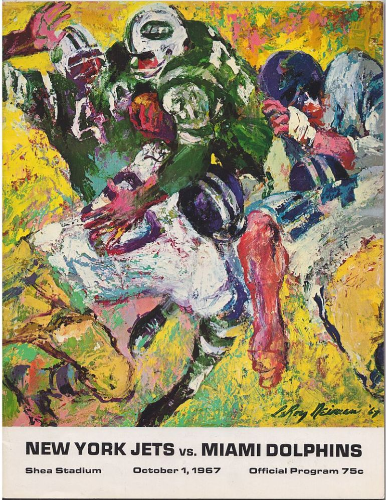 1967 Jets Dolphins, LeRoy Neiman