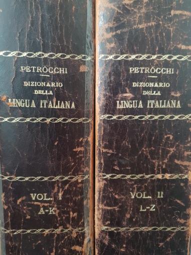 Dizionario della Lingua Italiana, Petrocchi, 1912 - diritti riservati, collezione privata, PIC by AF