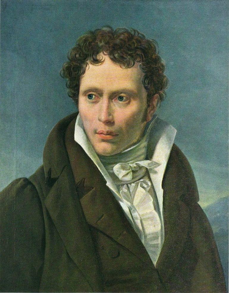 Arthur Schopenhauer ritratto da Ludwig Sigismund Ruhl, 1815 - 1818 - da Wikipedia