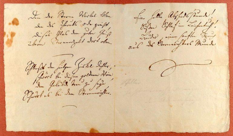 Autograph von Schillers Ode an die Freude, 2011 bei Moirandat in Basel versteige - da Wikipedia