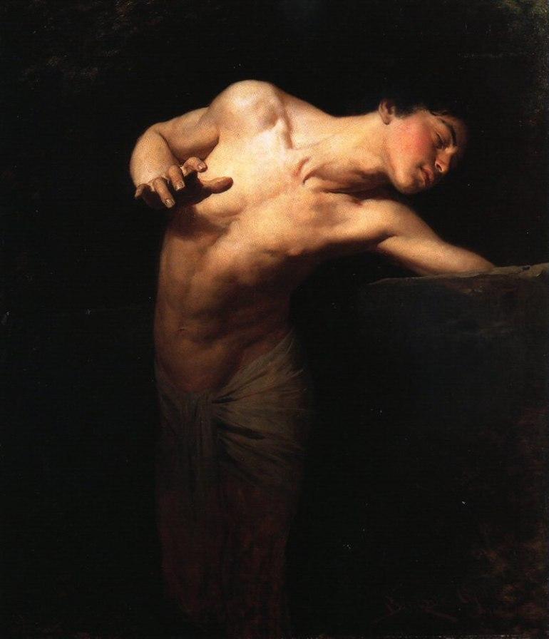 Benczúr Gyula (1844-1920), Narcissus (1881), Magyar Nemzeti Galéria, Budapest