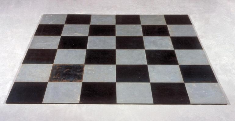 Steel Zinc Plain 1969 by Carl Andre born 1935
