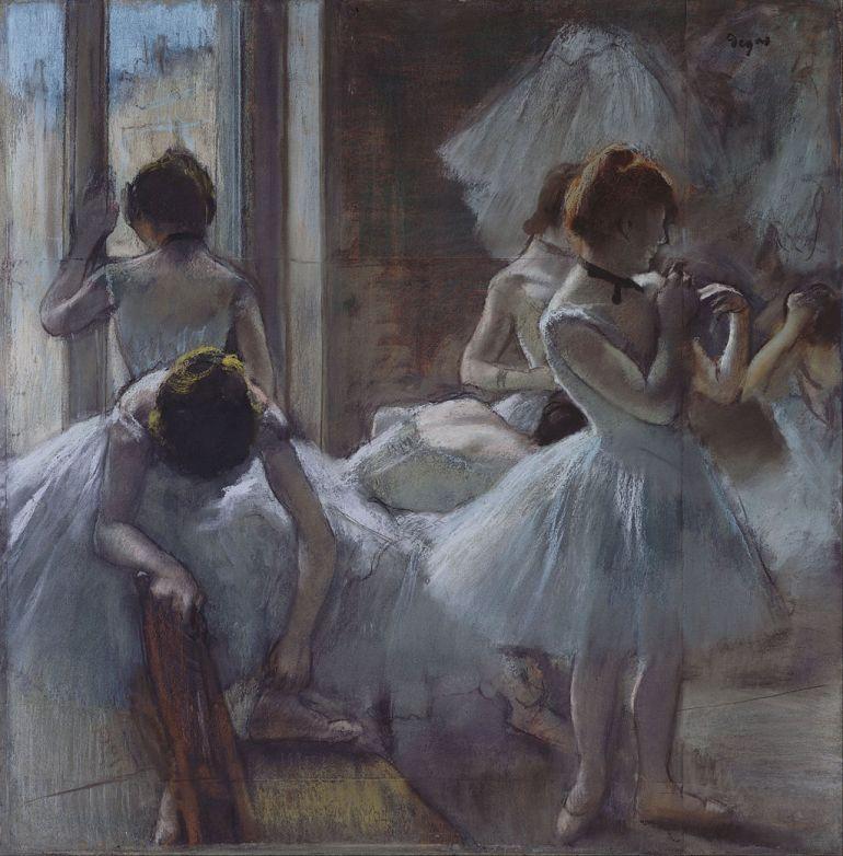 Edgar Degas, Ballerine 1884-1885 - da Wikipedia