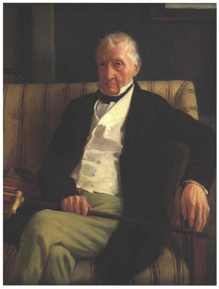 Edgar Degas Ritratto di Hilaire De Gas, 1857, nonno di Edgar De Gas - da Wikipedia