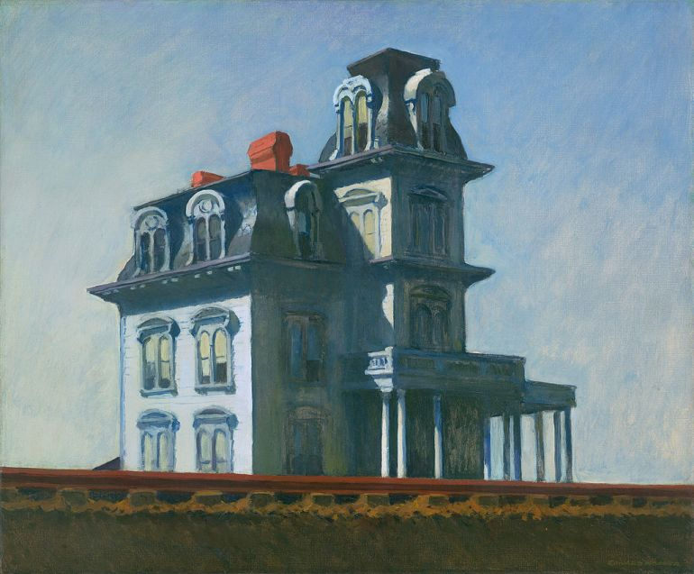 Edward_Hopper, The House by the Railroad, 1925, Whitney Museum of American Art - da Wikipedia