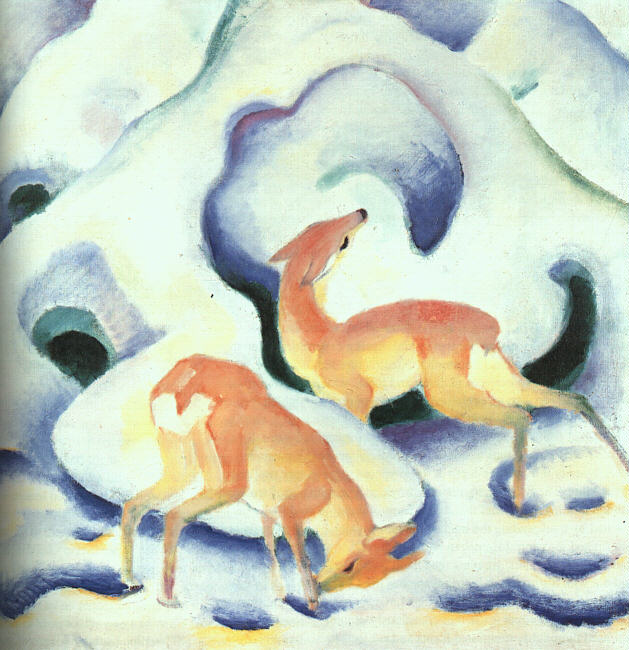 Franz Marc, Cervi nella neve, 1911