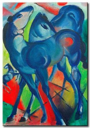 Franz Marc, Piccoli cavalli blu, 1913 - da Bimago