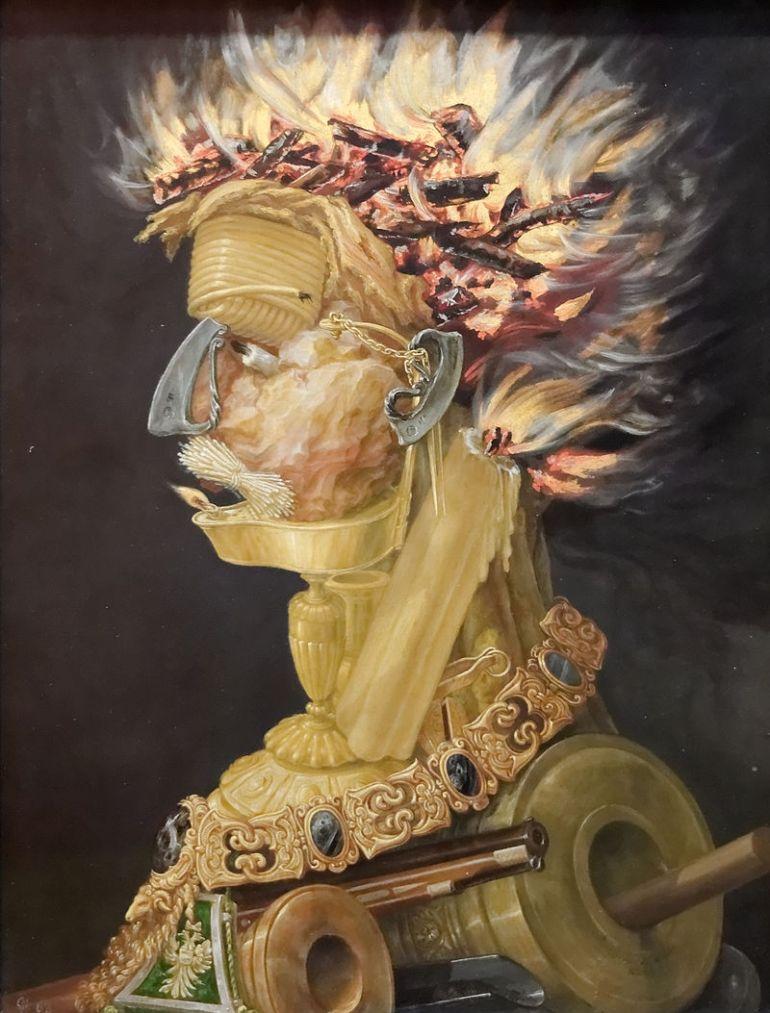 Giuseppe Arcimboldo, Il fuoco, 1566 - da Wikipedia