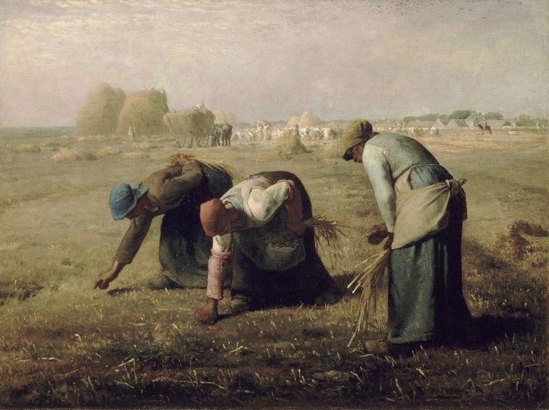 Jean-François Millet, Le spigolatrici, 1857 - da Wikipedia