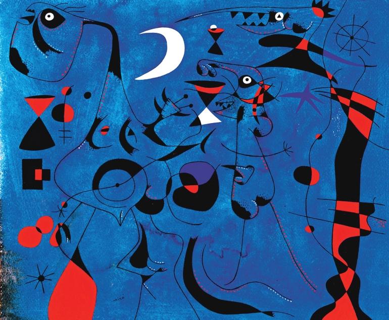 Joan Miro, Figure di notte guidate dalle tracce fosforescenti delle lumache, 1940 - da ArtsLife