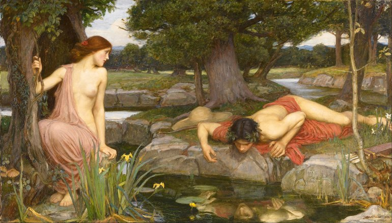 John William Waterhouse, Eco e Narciso, 1903 - da Wikipedia