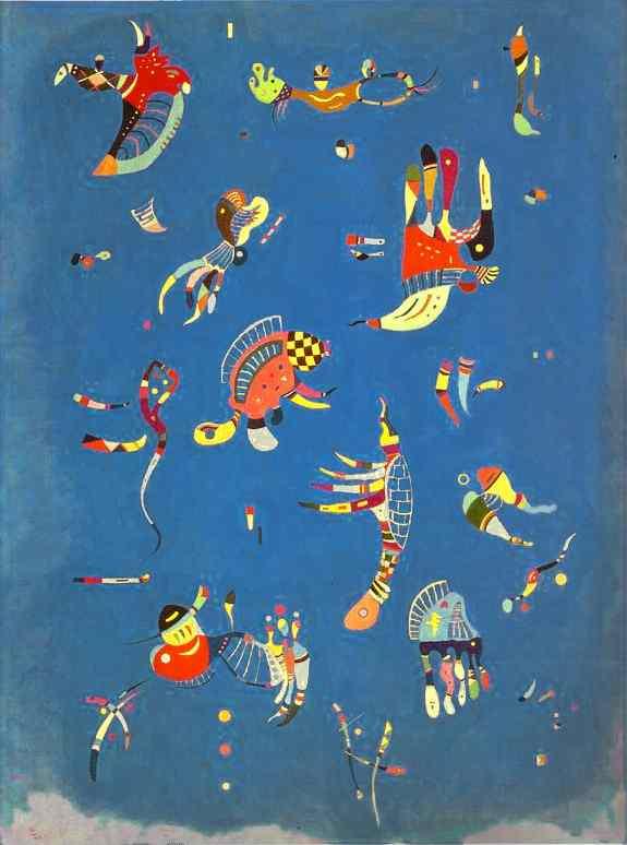 Kandiskij, Sky Blue, 1940 - da Wikipedia