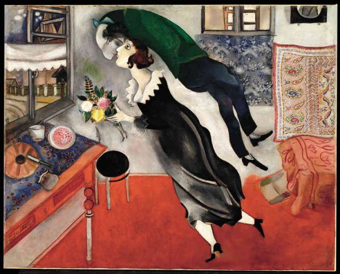 Marc Chagall, Compleanno, 1915 - da Pinterest