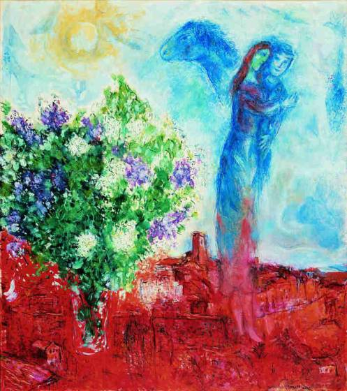 Marc Chagall, Coppia sopra Saint Paul, 1968 - da Pinterest