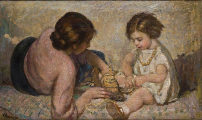 Mascarini Giuseppe - Madre e Bambina - 1930 a - da AnicoArte