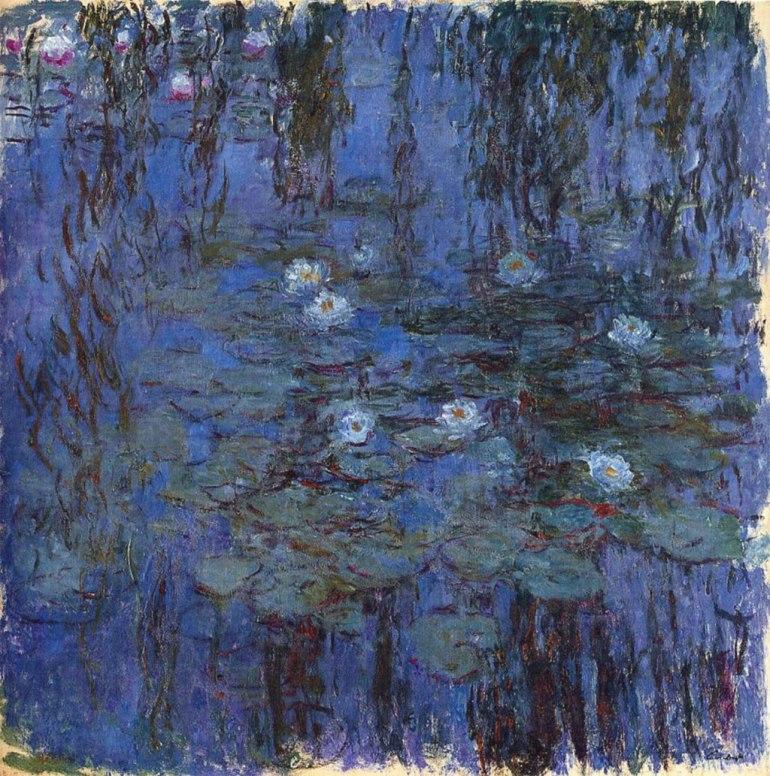 Monet, Ninfee blu, 1916-1919 - da Cultura - Biografieonline