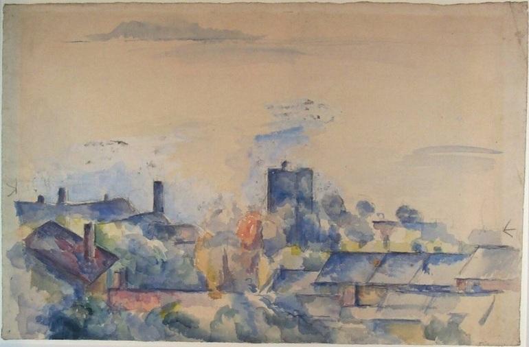 Paul Cézanne, Veduta dell'Estaque e del golfo di Marsiglia (1878-1882); olio su tela, 30.6×47.2 cm, Museum Boijmans Van Beuningen, Rotterdam - da Wikipedia