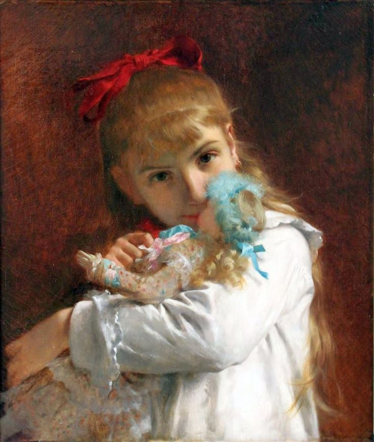 Pierre Auguste Cot, 1837 - 1883 A New Doll - da Pinterest