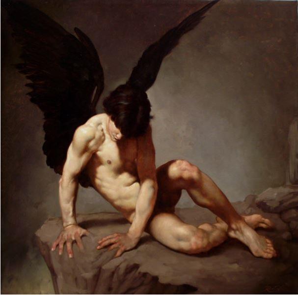 Roberto Ferri, Fallen Angel, 2011 - da WikiArt