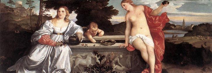 Tiziano Vecellio, Amor Sacro e Amor Profano, 1514 - da Wikipedia