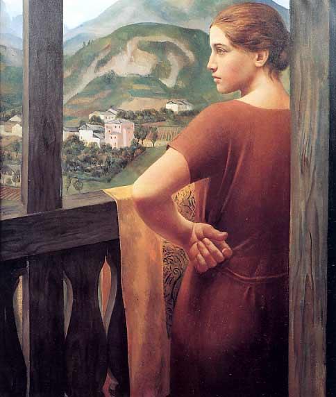 Ubaldo Oppi, Donna alla finestra, 1921 - da Wikipedia